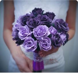 Фиолетовые розы 15 штук
