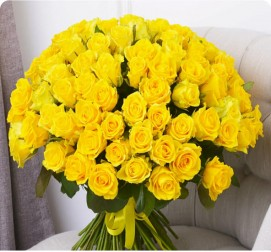 Желтые розы 51 штука