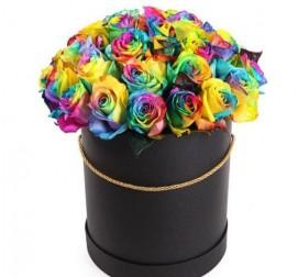 Розы Mix в коробке 31 штука